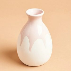 NEW Isaac Mizrahi Loves XO Sienna blush pink vase
